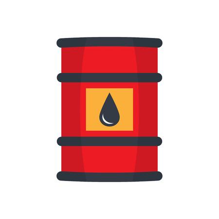 pail tank: Barrel oil flat style illustration Illustration