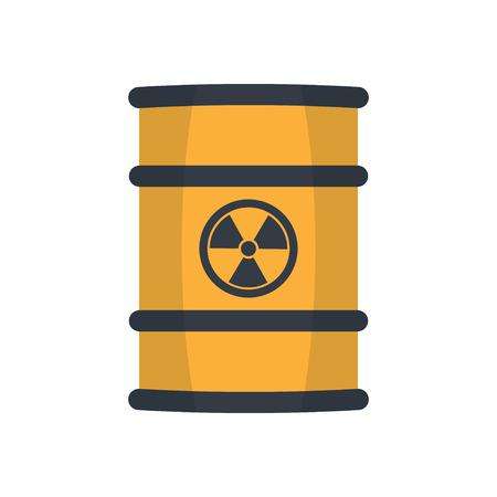 Los residuos radiactivos en barrica, estilo plano