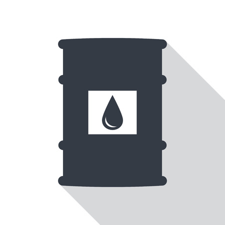pail tank: Barrel of oil, flat style icon with long shadow Illustration
