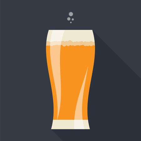 tipple: Beer glass icon with long shadow