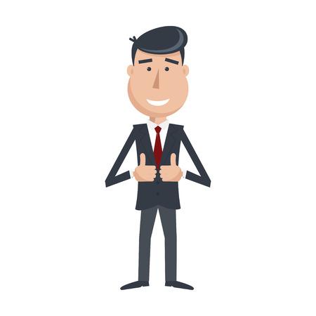 traje formal: Hombre divertido en traje y corbata Vectores