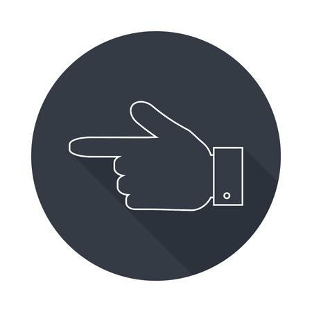aside: Hand pointer silhouette icon Illustration