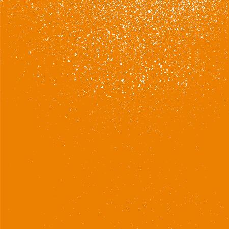 grainy: Grainy white texture on a orange  background. Design element. Vector illustration