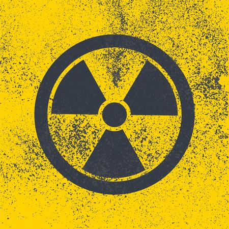 quarantine: Radioactive symbol. Design element. Vector illustration,eps 10.