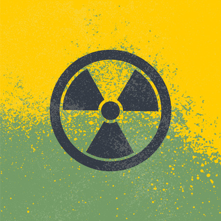 pictogram attention: Radioactive symbol. Design element. Vector illustration,eps 10.