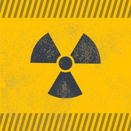 gamma radiation: Radioactive symbol. Design element. Vector illustration,eps 10.