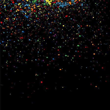 Colorful confetti vector. Grainy abstract  colorful texture on a black background. Design element. Vector illustration,eps 10.  イラスト・ベクター素材