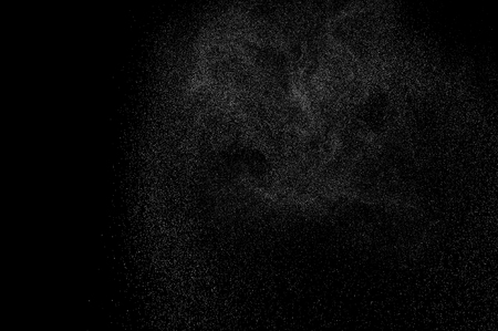 abstract splashes of water on a black background. abstract spray of water. abstract rain. shower water drops. abstract texture. Stock Photo