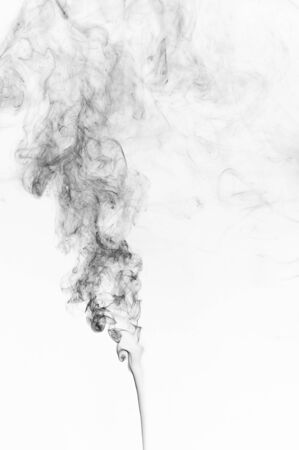 black smoke: Abstract black smoke on a white background. Design element. Abstract texture.