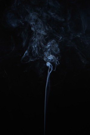 smoke: Abstract smoke moves on a black background Stock Photo