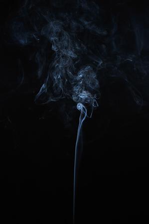 white smoke: Abstract smoke moves on a black background Stock Photo