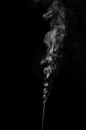 smoky black: Abstract smoke moves on a black background. Design element. Abstract texture. Stock Photo
