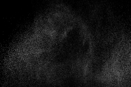 black liquid: abstract splashes of water on a black background Stock Photo