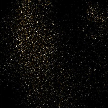 黒地にゴールドのキラキラ テクスチャ  イラスト・ベクター素材