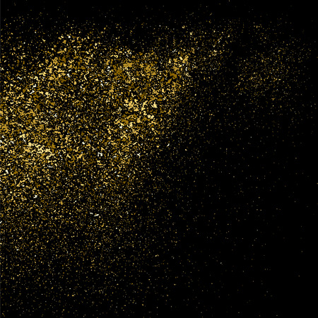 Gold glitter texture on a black background