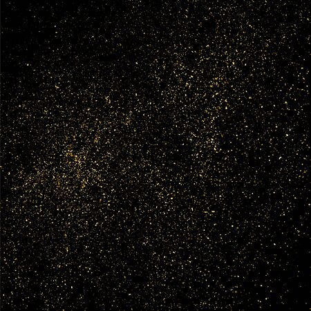 rich black wallpaper: Gold glitter texture on a black background. Golden explosion of confetti. Golden grainy abstract  texture on a black  background. Design element. Vector illustration,eps 10.