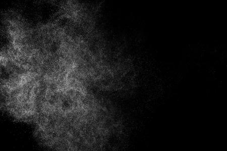 Projections abstraites de l'eau sur un fond noir Banque d'images - 48487622