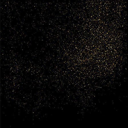 rich black wallpaper: Gold glitter texture on a black background. Golden explosion of confetti. Golden grainy abstract  texture on a black  background. Design element.