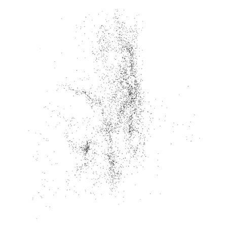 ruido: Textura granulada abstracto aislado en un fondo blanco. Elemento de diseño plano. Ilustración vectorial