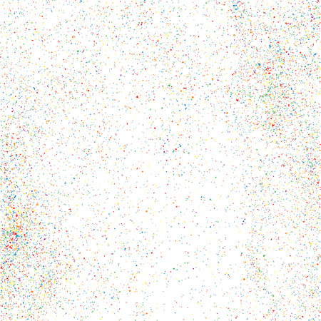 Colorful explosion of confetti. Grainy abstract  colorful texture isolated on a white background. Flat design element. Vector illustration Illustration