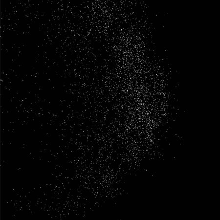 sand background: Abstract grainy texture on a black background.. Flat design element. Vector illustration