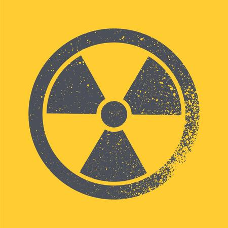 gamma radiation: Radioactive symbol. Design element. Vector illustration Illustration