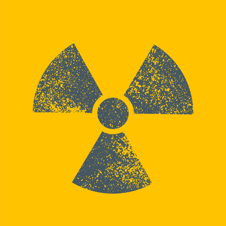 uranium: Radioactive symbol. Design element. Vector illustration Illustration