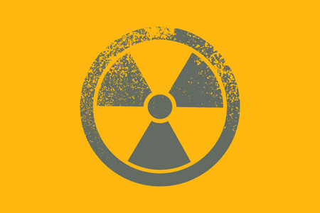 radioactive symbol: Radioactive symbol. Design element. Vector illustration Illustration