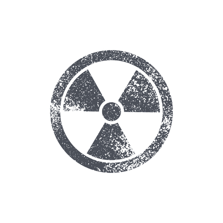 radioactive symbol: Radioactive symbol on white background. Design element. Vector illustration