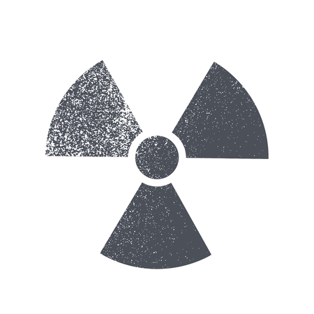 uranium: Radioactive symbol on white background. Design element. Vector illustration