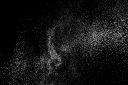 cloudburst: abstract splashes of water on a black background. abstract spray of water. abstract rain. shower water drops. abstract texture. Stock Photo