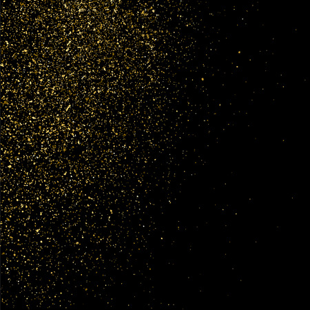 rich black wallpaper: Gold glitter texture on  black background. Golden explosion of confetti. Golden grainy abstract  texture on  black  background. Design element. Vector illustration,eps 10.