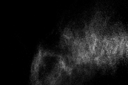 water spray: abstract splashes of water on a black background. abstract spray of water. abstract rain. shower water drops. abstract texture. Stock Photo