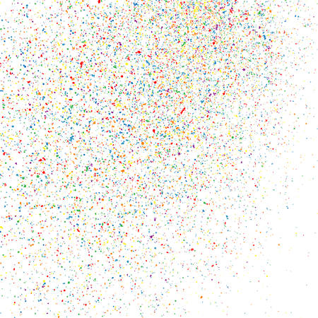 Colorful explosion of confetti. Grainy abstract  colorful texture isolated on white background. Flat design element. Vector illustration,eps 10.