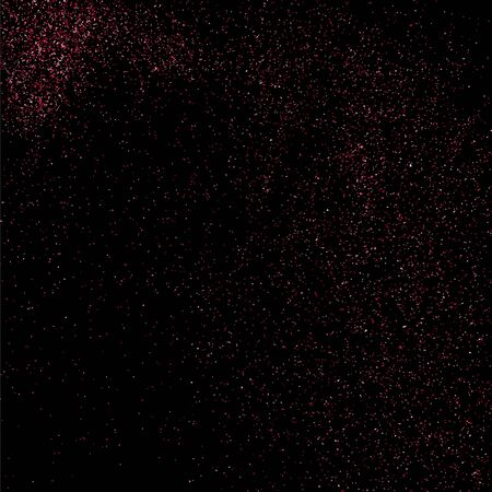 pink and black: Pink glitter texture on  black background. Pink explosion of confetti. Pink grainy abstract  texture on  black  background. Illustration