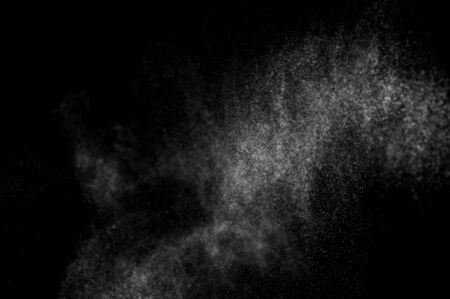 flux: abstract splashes of water on a black background. abstract spray of water. abstract rain. shower water drops. abstract texture. Stock Photo