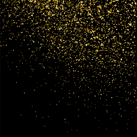 Gold glitter texture on  black background.