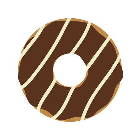 cooking food: Donut isolated on white background. Simple flat vector illustration, EPS 10.