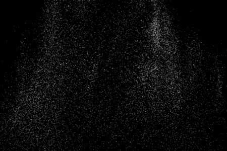 rough background: Grainy abstract  texture on  black background. Snow texture. Flat design element. Illustration