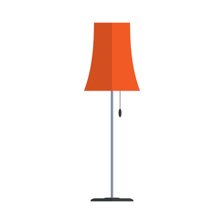 white house: Floor lamp isolated on white background. Simple flat vector illustration