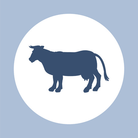 head shape: Silhouette of cow icon. Simple flat vector illustration, EPS 10.