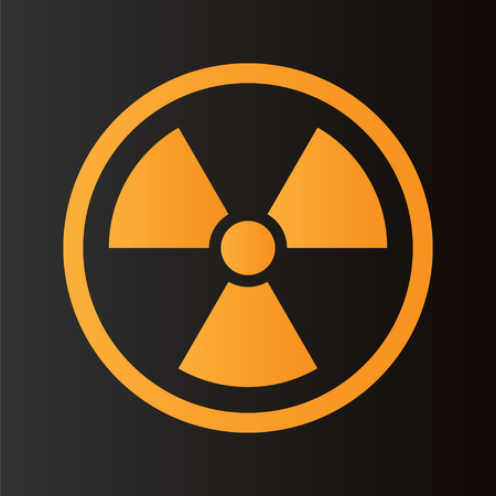 radioactive: Radioactive symbol on black background. Design element. Vector illustration