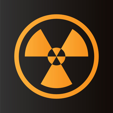 quarantine: Radioactive symbol on black background. Design element. Vector illustration