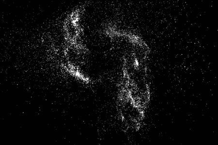 Grainy abstract texture on black background. Snow texture. Flat design element.