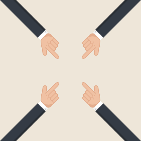 forefinger: Hands pointer symbol. Forefinger symbol. Illustration