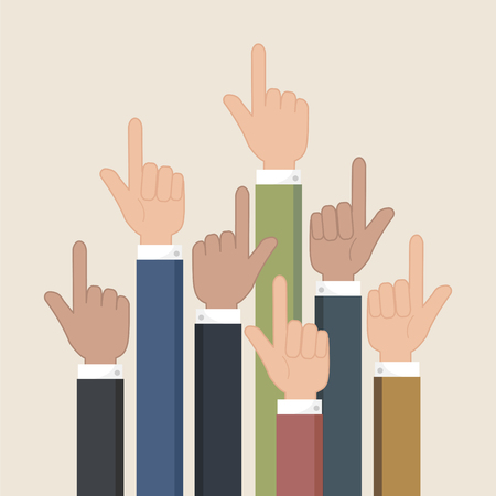 forefinger: Hands pointer symbol. Forefinger symbol. Illustration