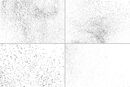 Set grunge vector texture. Set abstract grainy texture isolated on white background. Set dusty grain texture. Vector illustration