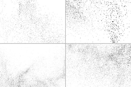 dusty: Set grunge vector texture. Set abstract grainy texture isolated on white background. Set dusty grain texture. Vector illustration