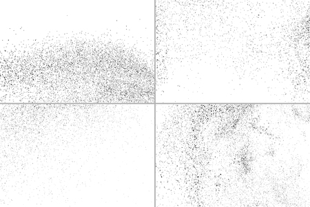 Set grunge vector texture. Set abstract grainy texture isolated on white background. Set dusty grain texture. Vector illustration,eps 10.