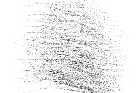 Nero consistenza granulosa isolato su sfondo bianco.
